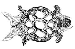 Turtle ornament. Ornament illustration of turtle Royalty Free Stock Photo