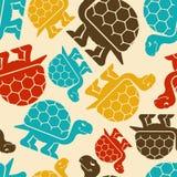 Turtle pattern seamless. tortoise Vector background. Amphibian o royalty free illustration