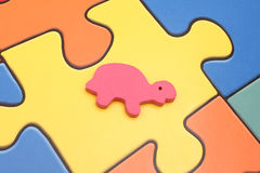 Turtle pink - toy plastic Royalty Free Stock Images