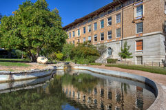 Turtle Pond and  College of Natural Sciences Royalty Free Stock Image