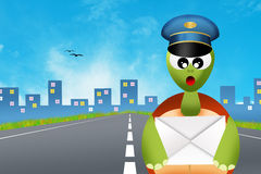 Turtle postman Royalty Free Stock Image
