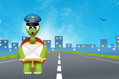 Turtle postman Royalty Free Stock Images