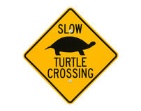 Turtle Road Crossing Sign Stock Image