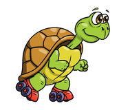 Turtle on roller skates 2 Royalty Free Stock Photo