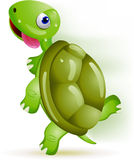 Turtle running Royalty Free Stock Image