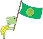 Turtle's flag Stock Images