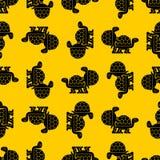 Turtle sex pattern seamless. Tortoise intercourse background. Re royalty free illustration