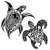 Turtle a silhouette vector illustration Royalty Free Stock Photos