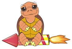 Turtle sit on racket Stock Image