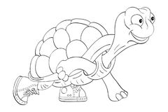 Turtle in sneakers vector illustration