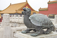Turtle statue in Forbidden City, China Royalty Free Stock Images