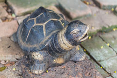 Turtle statue in the garden Royalty Free Stock Photography