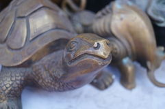Turtle statue Royalty Free Stock Image