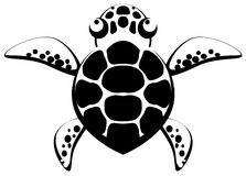 Turtle Stencil Stock Photo