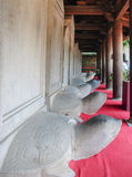 Turtle stone steles. Bearing the names of Doctoral laureates of the Temple of Literature between 1142 and 1778 in Vietnam at Van Mieu - Quoc Tu Giam (Temple of Royalty Free Stock Photos