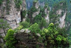 Turtle stone in Zhangjiajie. This is the turtle stone in zhangjiajie reserve. Zhangjiajie is the most visited by Chinese nature lovers, who come to marvel at the Stock Photos