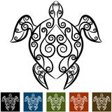 Turtle Swirl Tattoo Stock Photography