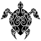 Turtle Swirl Tattoo Royalty Free Stock Image