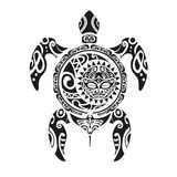 Turtle tattoo in Maori style. Vector illustration EPS10 Royalty Free Stock Photos
