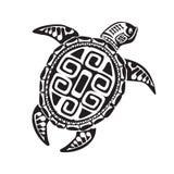 Turtle tattoo in Maori style. Vector illustration EPS10 Royalty Free Stock Image
