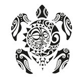 Turtle tattoo in Maori style. Vector illustration EPS10 Royalty Free Stock Photography