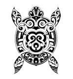 Turtle tattoo shape Stock Image
