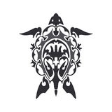 Turtle tattoo sketch. Vector black turtle tattoo sketch Stock Images