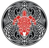Turtle tattoo Stock Image