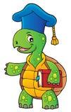 Turtle teacher theme image 1 royalty free illustration