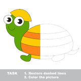 Turtle to be colored. Vector trace game. Stock Image