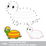 Turtle to be traced. Vector numbers game. Stock Image