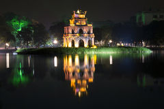 Turtle Tower at night. Stock Photo