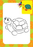 Turtle toy. Coloring page Royalty Free Stock Photos