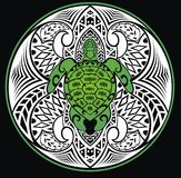 Turtle in a tribal style Royalty Free Stock Image