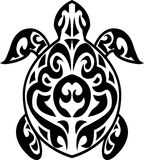 Turtle tribal tattoo Royalty Free Stock Images