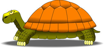 Turtle. Vector illustration of a smiling cartoon turtle Stock Images