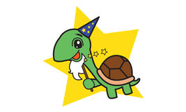 Turtle Wizard. Illustration of old turtle wizard royalty free illustration