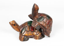 Turtle Wood Carving Royalty Free Stock Images
