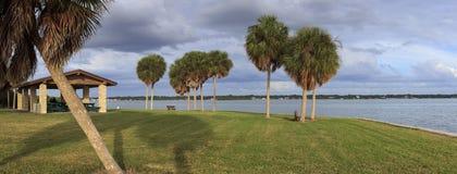 Turtlecrawl punkt, Podpalane sosny, Floryda fotografia stock