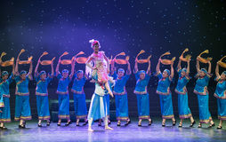 Turtledove-Chinese folk dance Stock Images