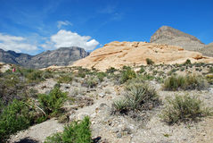 Turtlehead Peak in Red Rock Canyon, Las Vegas, Nevada. The image shows Turtlehead Peak (upper right) in Red Rock Canyon National Conservation Area near Las Vegas Royalty Free Stock Photos