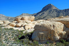 Turtlehead Peak in Red Rock Canyon, Las Vegas, Nevada. The image shows Turtlehead Peak (upper right) in Red Rock Canyon National Conservation Area near Las Vegas Royalty Free Stock Image
