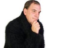 Turtleneck Angora Sweater Royalty Free Stock Images