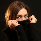Turtleneck Angora Sweater Stock Photos