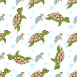 Turtles in cartoon style Stock Photos
