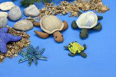The turtles dolls family Royalty Free Stock Image