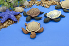 The turtles dolls, made of cloth Royalty Free Stock Photos