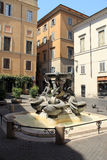Turtles Fountain in Rome Royalty Free Stock Image