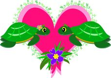 Turtles in Love Royalty Free Stock Image