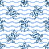 Turtles pattern Stock Image